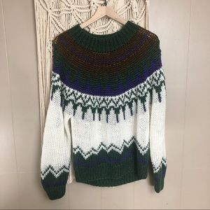 Vintage loose hand knit sweater size large